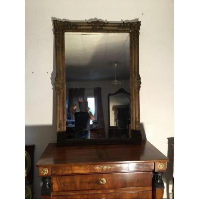 Miroir En Bois Doré Napoléon III époque 19emsiècle