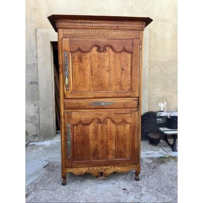 Vendéen Cabinet In Louis XV Style In Cherry, 19th Century