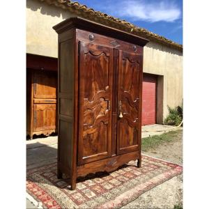Louis XV Provençal Cabinet In Walnut 18th Time