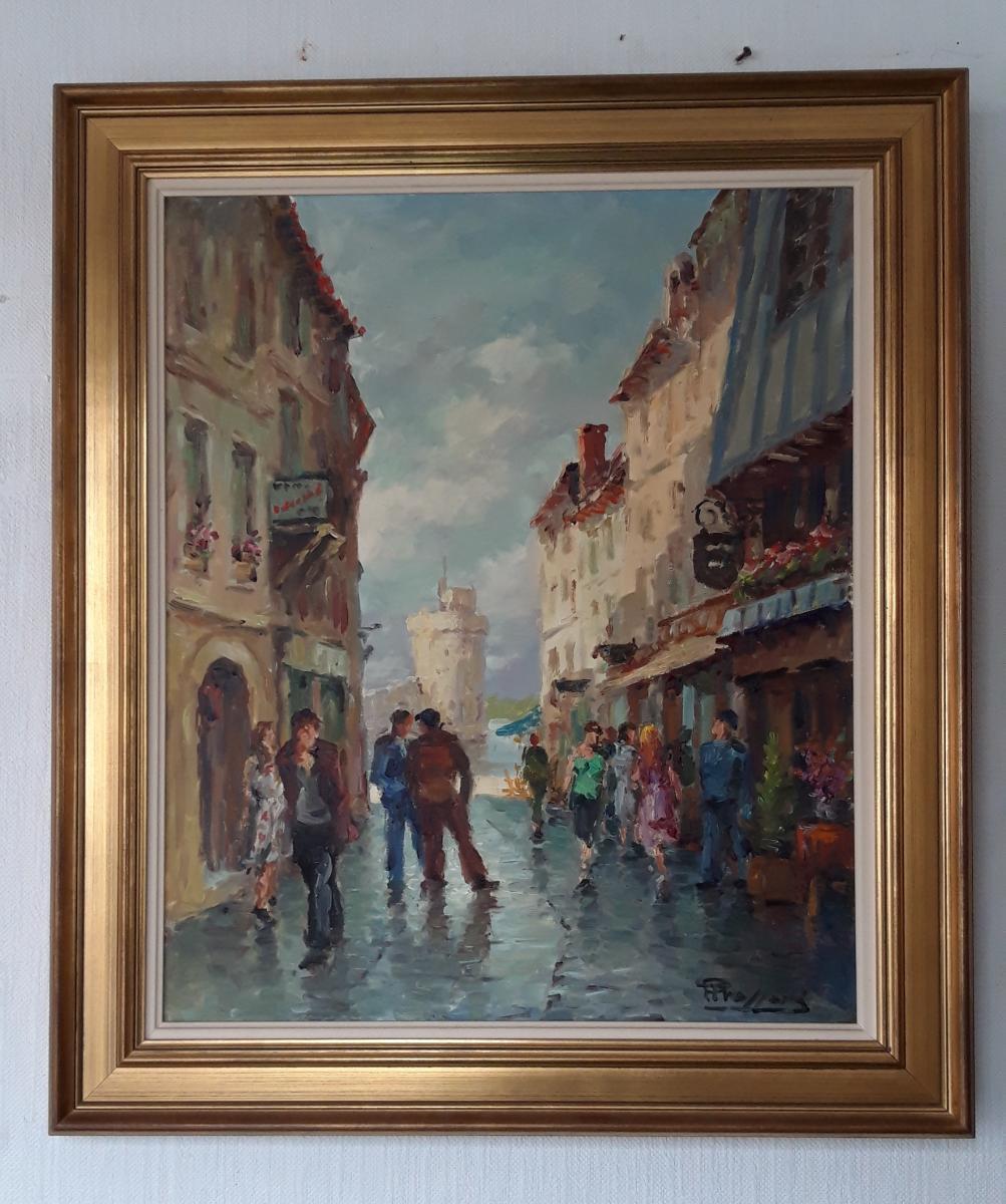Vue d'Une Rue à La Rochelle - Pierre Trassard