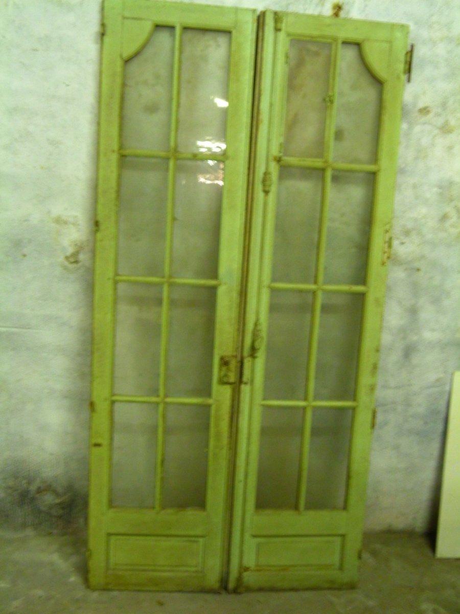 Paire de portes vitrées