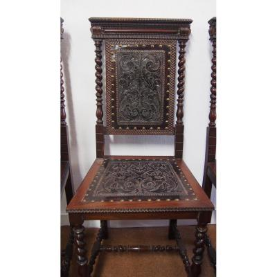6 Portuguese Chairs In Rosewood Early Twentieth