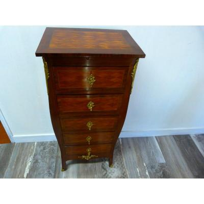 Rosewood And Rosewood Chest Of Drawers Louis XV 20th Century