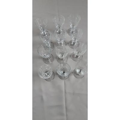 Eleven Baccara Crystal Water Glasses Chaumy Model