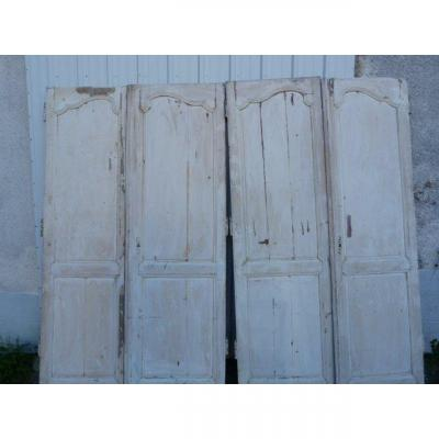 4 Louis XV Painted Wood Doors