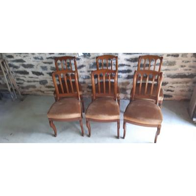 Lots Of 6 Dining Style Chairs In Cherry