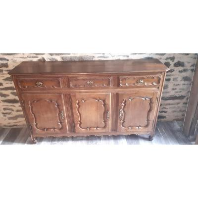 18th Century Lorrain Sideboard In Oak