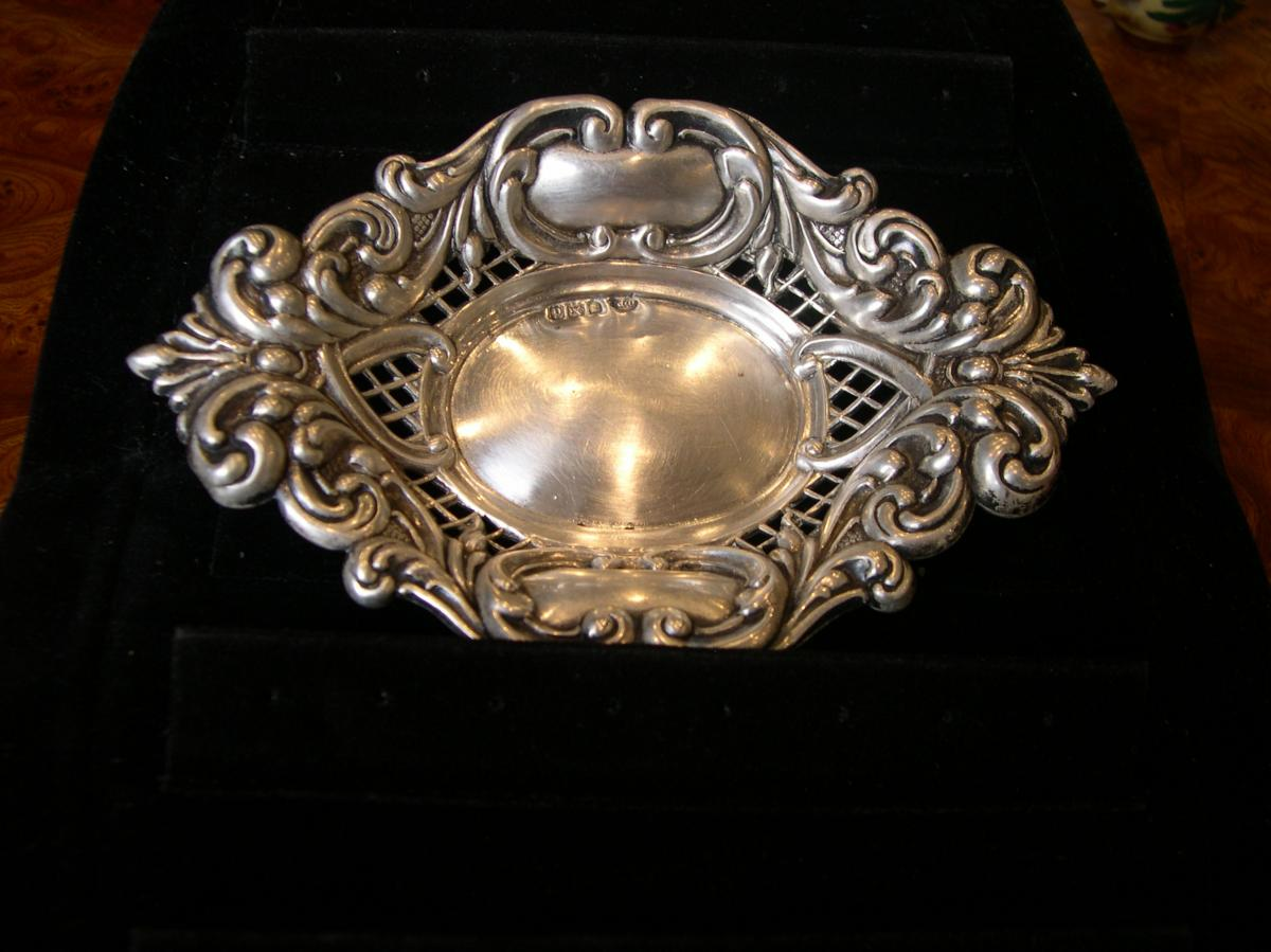 Small Jewelry Tray In Sterling Silver 19th