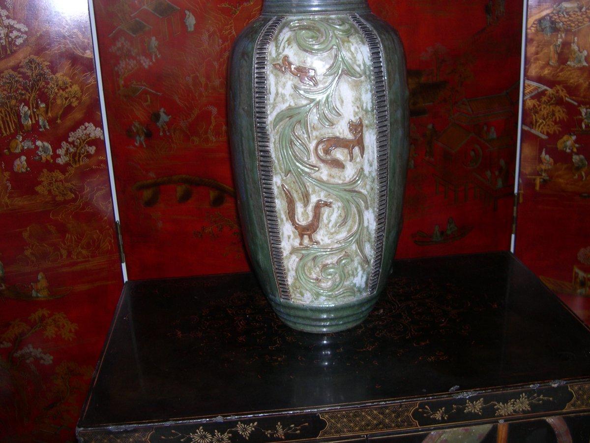 Vase De Guerin De Grande Taille Signe Modele Unique