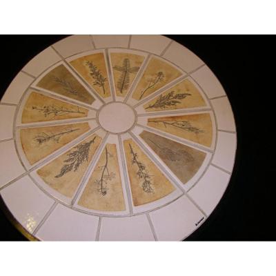 Table Capron Signe Ovale Etat Neuf