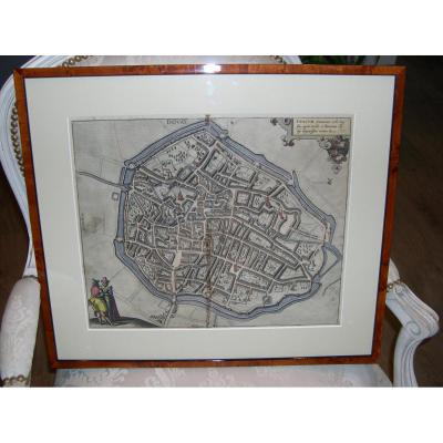 Plan 17EME Polycrome Encadre De La Ville De Douai