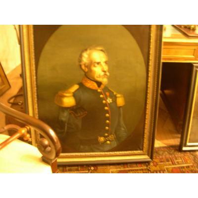 Tableau Francais  D Epoque Napoleon III Portait D Un General