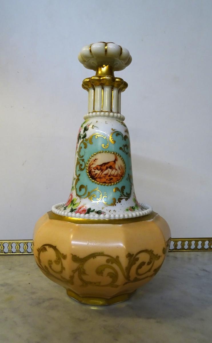 Flacon En Porcelaine De Vieux Paris 2ème Moitié Du 19ème