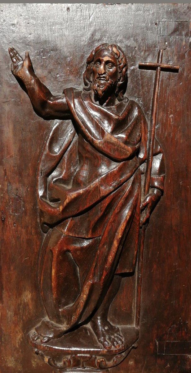 Porte De Tabernacle En Bois Sculpté Vers 1600
