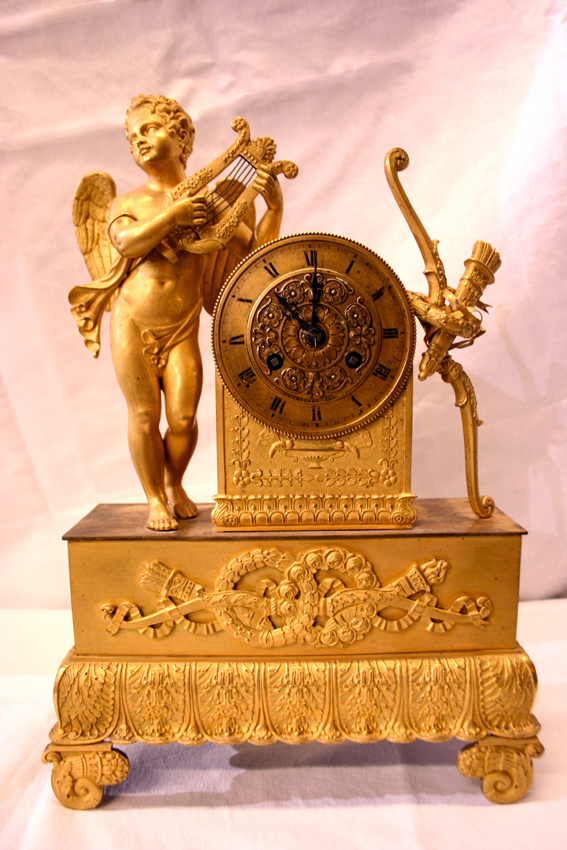 Clock Gilt Bronze - 19th Century