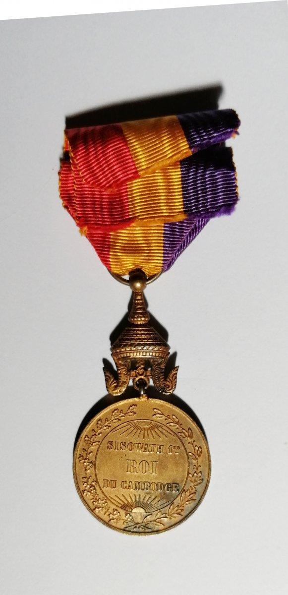 Medal Of King Sisowathe 1st Of Cambodia-photo-2