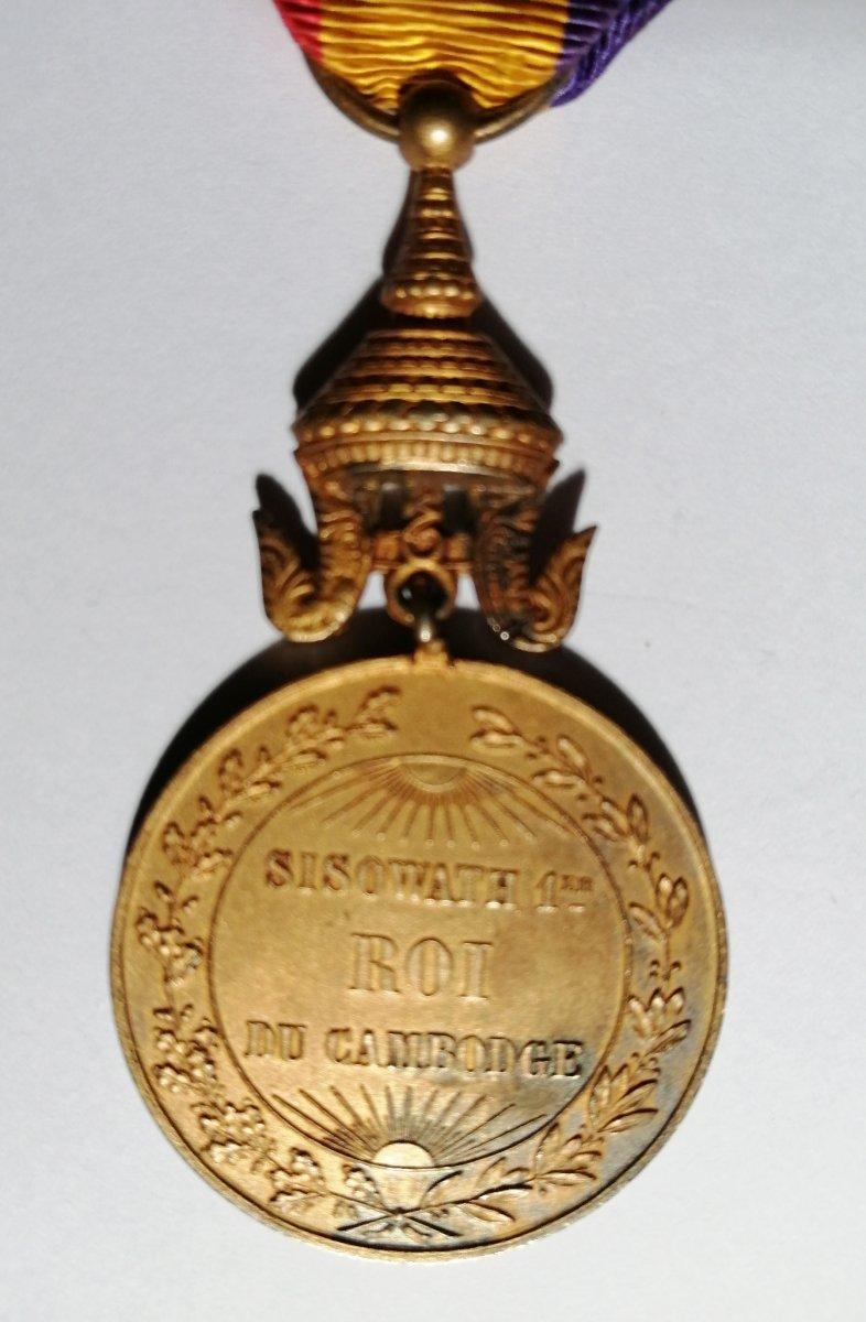 Medal Of King Sisowathe 1st Of Cambodia-photo-1