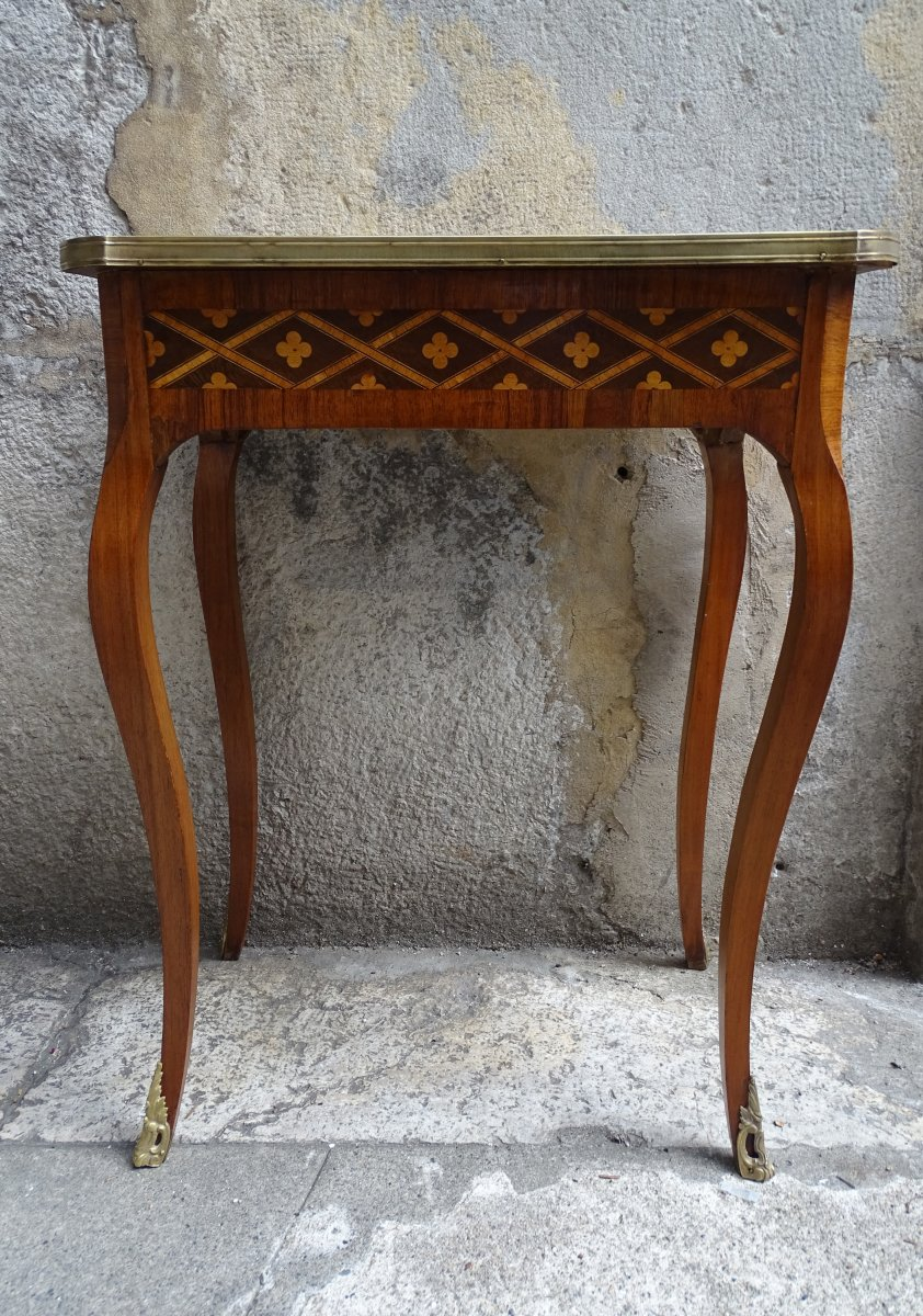 Small Louis XV Inlaid Center Table Period 19th