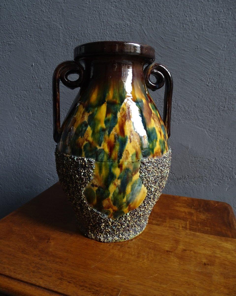 Grand Vase En Terre Cuite De Chirens Début 20ème-photo-2