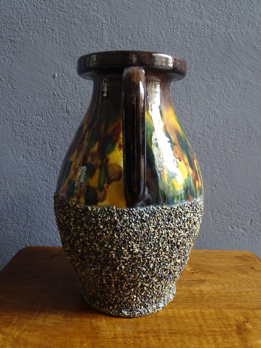 Grand Vase En Terre Cuite De Chirens Début 20ème-photo-4