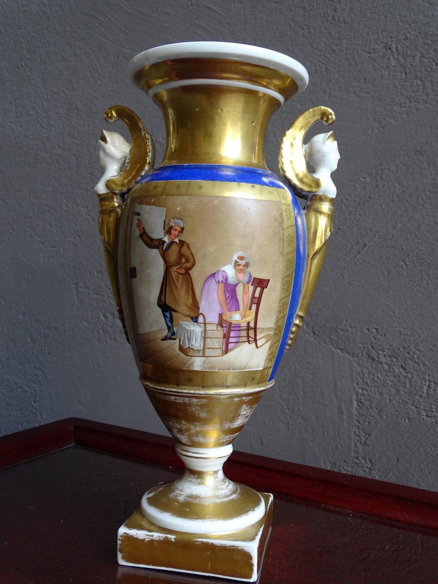 Porcelain Vase Old Paris 1st Empire