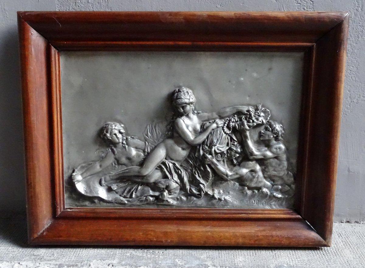Silvered Bronze Plate Period 19th