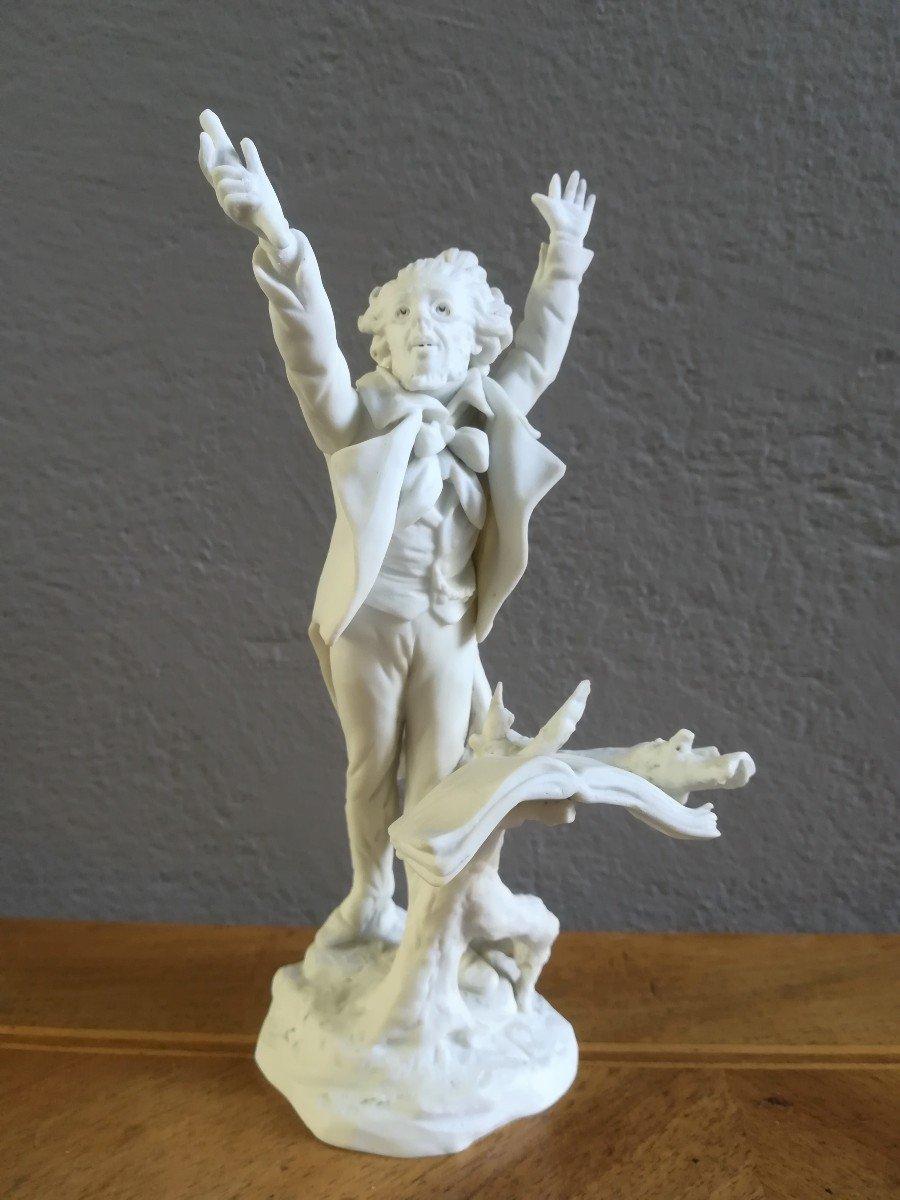 Statuette En Biscuit Chef d'Orchestre  Fin 19ème / Début 20ème