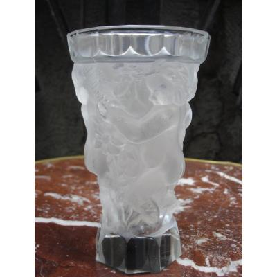 """Glass Vase """"round Of Children"""""""