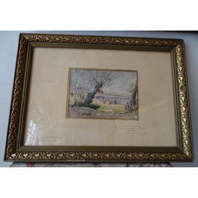 Watercolor Animated Landscape Louis Bonneton 1905