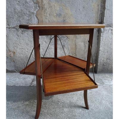 Table Triangulaire à 3 Abattants Style Louis XVI Epoque 1900