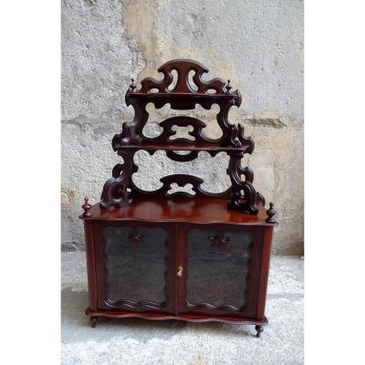 Small Vitrine In Mahogany Louis Philippe Style Early 20th