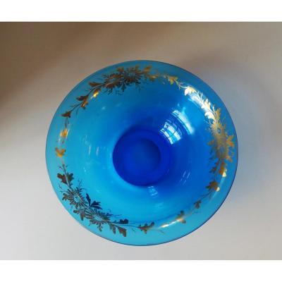 Coupe en cristal bleu Napoléon III