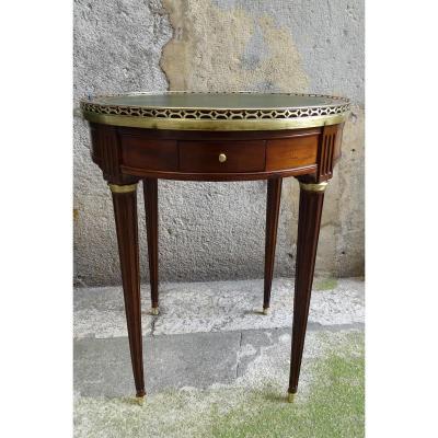 Table Bouillotte En Acajou Epoque Louis XVI  18ème