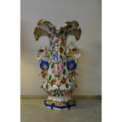 Large  Vase In Vieux Paris 19th