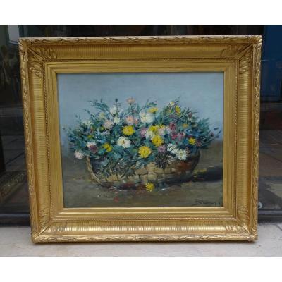 Fleurs Huile Sur Toile De Brument 1883