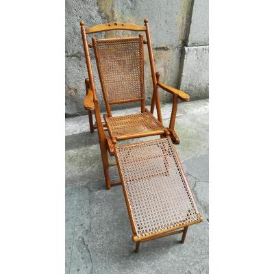 Caned Lounge Chair Period 1900