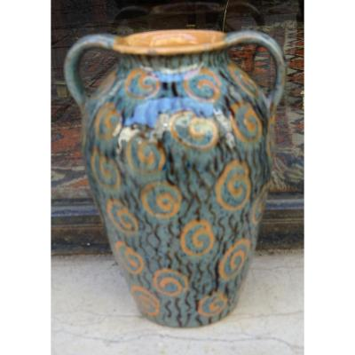 Varnished Terracotta Vase 1930 Schlibs