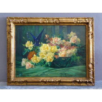 C. Bret-charbonnier Large Bouquet Of Flowers 20th