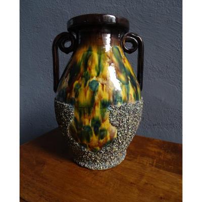 Grand Vase En Terre Cuite De Chirens Début 20ème