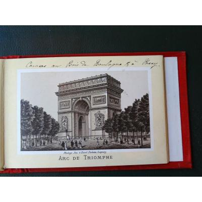 Notebook Of 30 Views Of Paris 1882