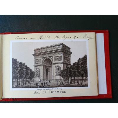 Carnet De 30 Vues De Paris 1882