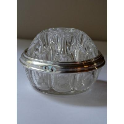 Glass And Silver Flower Holder 20th