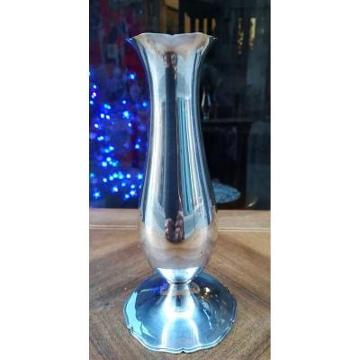 Small Silver Vase 20th