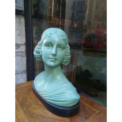 Bust Of A Young Woman In Plaster 1920