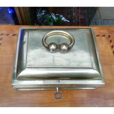 Brass Messenger Box 19th