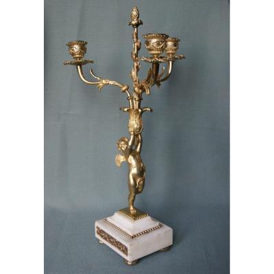 Candelabra In Gilt Bronze Period 19th