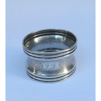 "Silver Napkin Ring ""ff"" Late 19th"