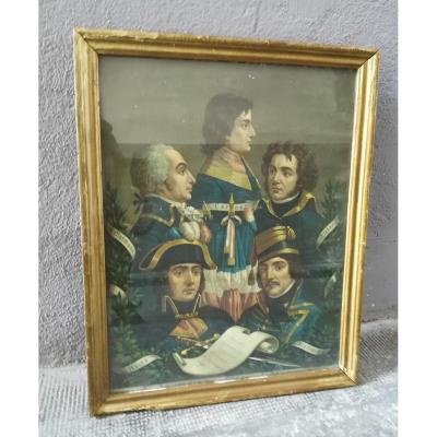 Chromolithography The Generals Of The Revolution 1900