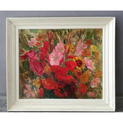 Bouquet De Fleurs De Chautemps  20ème