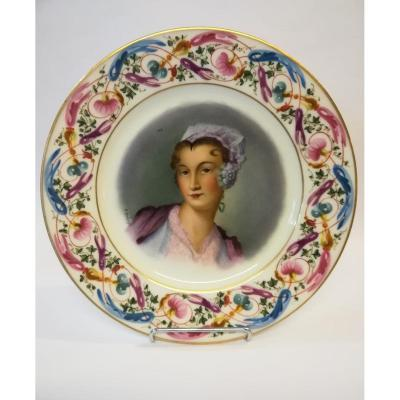 Porcelain Plate Late 19th